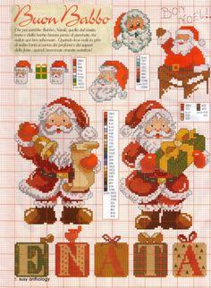 ♥ ♥ Mon point Graphiques Cruz: Santa Cruz point pour Noël