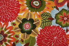 Robert Allen Kiki Printed Cotton Drapery Fabric in Pinata $11.95 per yard
