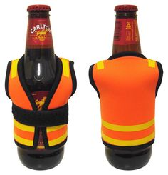 Safety Vest Stubby Cooler #promotionalproducts #beer #stubbyholder