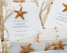 Starfish invitation ideas