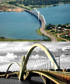Oliveira Bridge (Brazil): The first X-shaped Wire Bridge in the World.