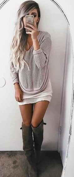 #summer #ultimate #outfits |  Light Knit Sweater + Tassel Trim Shorts
