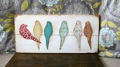 Pájaros en un alambre Vintage con dibujos por SummerWindArt en Etsy