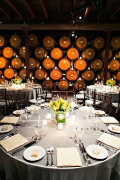 wine cellar weddings St. Helena Destination Wedding