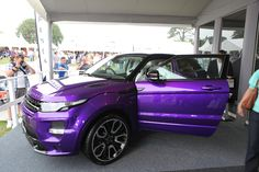 We unveiled the Evoque 2012 GTS in Ultraviolet at the Goodwood Festival of Speed.
