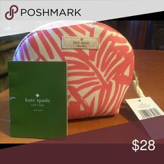 New with tags, Kate Spade Make up bag. NWT - Kate Spade - pink zebra pattern kate spade Bags Cosmetic Bags & Cases