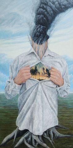 Passionate | 60 x 119 cm | Acrylic Paint, Oil Pastel, Watercolour Pencil and Ballpoint Pen On Hardboard | ® Krzysztof Polaczenko 2016
