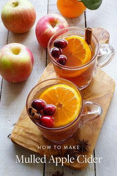 Serve Mulled Apple Cider at Thanksgiving. It's a classy cocktail for your guests.