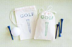 10 Golf Favor Bag  Tee Bag Gift  Golf Birthday by becollective, $14.00