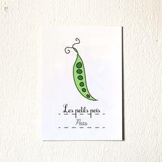 French Kitchen Wall Art Peas art print Fruits by GeraldineAdams
