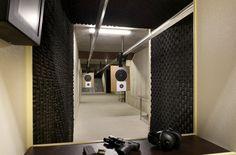 Indoor home shooting range
