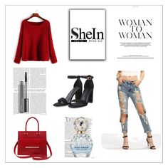 """""""Shein 16"""" by zerina913 ❤ liked on Polyvore featuring M&Co, Balmain, Marc Jacobs, MAC Cosmetics and shein"""