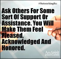 #NetworkingRx: What help have you asked for lately?