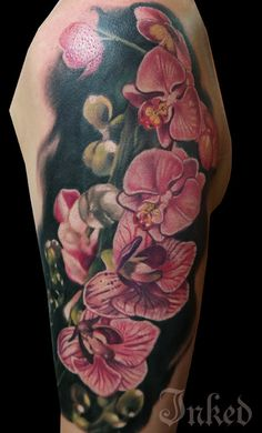 When it comes to tattoos, flowers makes the most popular subjects for all the people, including men and women. And among the flowers, Orchid . Best Sleeve Tattoos, Cover Up Tattoos, Mom Tattoos, Cute Tattoos, Beautiful Tattoos, Tattoos For Guys, Tattoos For Women, Awesome Tattoos, Tatoos