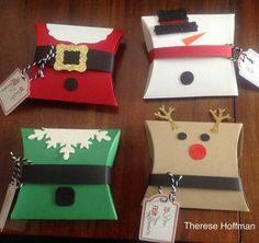 Stampin Up Square Pillow Boxes for the holiday