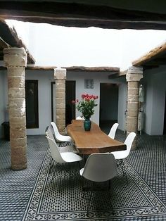 """""""Five columns"""" is a beautiful 200 year old house , located in the Chbanat district, near the main gate of Bab Marrakech in the medina of Essaouira. Morocco."""