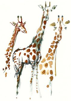 Beautiful. Just Imagine a lineless giraffe just made up from patterns and facial features for a tattoo. Simplicity.