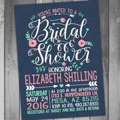 Bridal Shower Invitation Wedding Shower Printable by CLaceyDesign
