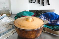 dutch oven, yellow kitchen, vintage kitchen, Dutch Oven, Vintage Kitchen, Meal Prep, Food To Make, Sandwiches, Yellow, Cooking, Blog, Iron Pan