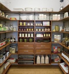 This walk in pantry would totally solve all the storage problems in my kitchen!