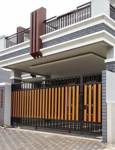Cool Modern Fence Design Ideas Best For Modern House 20 Home Gate Design, Steel Gate Design, Main Gate Design, House Front Design, Garage Design, Gate Designs Modern, Modern Fence Design, Modern House Design, Modern Gates