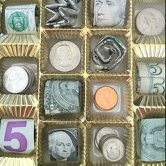 Creative way to give money as a gift. I put it inside a chocolate box.