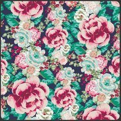Floressence Aqua di Rose Green -Studio Saartje - online winkel met designer-, retro- en vintage stoffen en exclusieve patronen