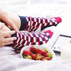 Have yourself a berry happy moment. Argyle Socks, Women's Socks, Colorful Socks, Happy Socks, Happy Moments, Lingerie Sleepwear, Berries, Leggings, Boots