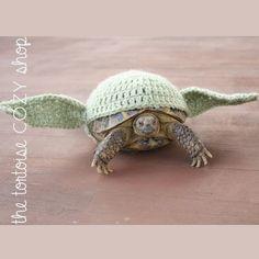 Tortoise Cozy  Star Wars Yoda by TheTortoiseCozyShop on Etsy