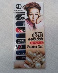 G-Dragon Bigbang Fashion Nail Art Sticker KPOP Star Gift New in Entertainment Memorabilia, Music Memorabilia, Other Music Memorabilia | eBay