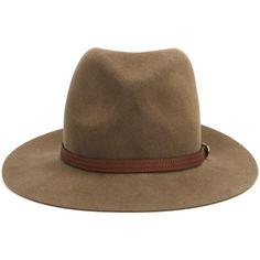 Rag & Bone Floppy Brim Wool Fedora ($205) ❤ liked on Polyvore featuring accessories, hats, headwear, brown, hats/hair accessorie, brown wool hat, fedora hats, floppy brim hat, floppy brim fedora and wool hat