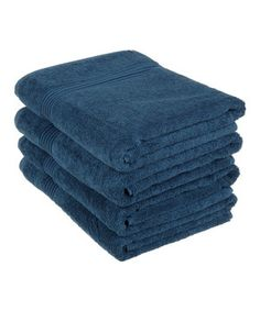 Loving this Sapphire Egyptian Cotton Bath Towel - Set of Four on #zulily! #zulilyfinds
