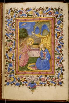 Zanobi di Benedetto Strozzi - Leaf from Adimari Book of Hours - Walters - Open Reverse - Category:Walters MS - Adimari Book of Hours - Wikimedia Commons Liturgy Of The Hours, Medieval, Renaissance, Book Of Hours, Illuminated Manuscript, Ikon, Art Museum, Mario, Leaves