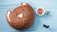 Katzenkuchen   Miau - kein Kuchen für Katzen, aber für Katzenfreunde: Backrezept für einen allerliebsten Katzenkuchen aus der Springform.
