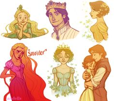 "artoftangled: ""Tumblr Sketches by ~andells The one the bottom right is my one of my favorite pieces of Tangled fanart, if not my total favorite. """