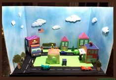 diorama ideas for kids Social Studies Projects, Social Studies Classroom, School Projects, Projects For Kids, Art Projects, Community Project Ideas, Communities Unit, Hotels For Kids, Cardboard Box Crafts
