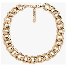 Simple Metal Chunky Chain Choker Necklace ($12)