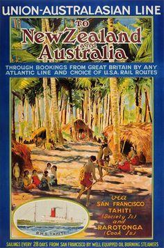 Union-Australasian Line to New Zealand and Australia