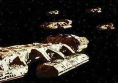 From the Battlestar Galactica archives 70s Tv Shows, Sci Fi Tv Shows, Fiction Movies, Science Fiction, Battlestar Galactica Cast, Kampfstern Galactica, Thunderbirds Are Go, Sci Fi Ships, Star Images
