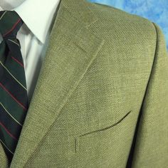 Ermenegildo Zegna Soft Mens 46L Tan Hopsack Wool Silk Cotton Linen Blazer EUR 56 #ErmenegildoZegna #ThreeButton