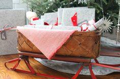 sled Christmas gift basket