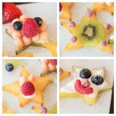 Fun Food-Art Starfruit Faces - #diy, #foodcraft