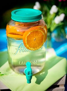 Simple and delicious. Water with orange slices, so refreshing!