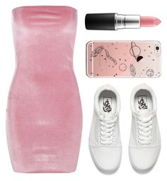 """""""Untitled #10"""" by emilyharwoodx on Polyvore featuring Boohoo, Vans and MAC Cosmetics"""