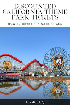 Never pay full price for California theme parks again! Head to my blog to learn how. La Jolla Mom #travel #california Disneyland California Adventure, California Travel, Travel With Kids, Family Travel, La Jolla San Diego, Flying With Kids, Fun Activities To Do, Travel Usa, Travel Tips
