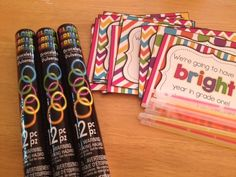 Back to School Student Gift - Now EDITABLE! Everyone loves glow sticks (or highlighters)! Back To School Night, 1st Day Of School, Beginning Of The School Year, Back To School Gifts, School Stuff, Student Christmas Gifts, Student Gifts, Kindergarten Gifts, Kindergarten Graduation