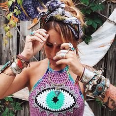 ✨✨ @disfunkshionmag wearing our Silver Armour Cuff ॐ www.ohmboho.com ॐ