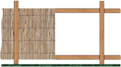 bamboo fence frame partially covered with Bamboo reeds - Modern Design Reed Fencing, Timber Fencing, Garden Fencing, Dog Fence, Front Yard Fence, Fence Art, Bamboo Wall, Bamboo Fence, Bamboo Fencing Ideas