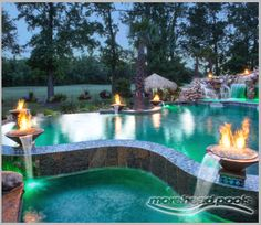 Complete Your Pool With A Stunning Waterfall Cambridge Pavers Waterfall Kits Are Easy To