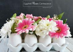 decorer sa maison avec des oeufs fleuris, une idée simple et esthétique